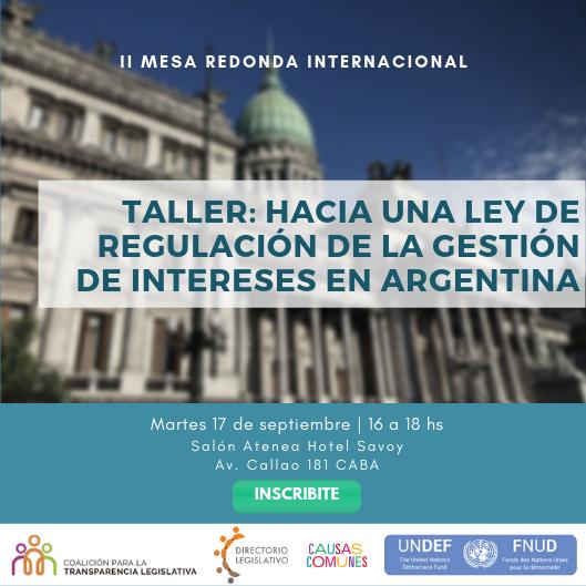 Hacia una ley de regulación de la gestión de intereses en Argentina