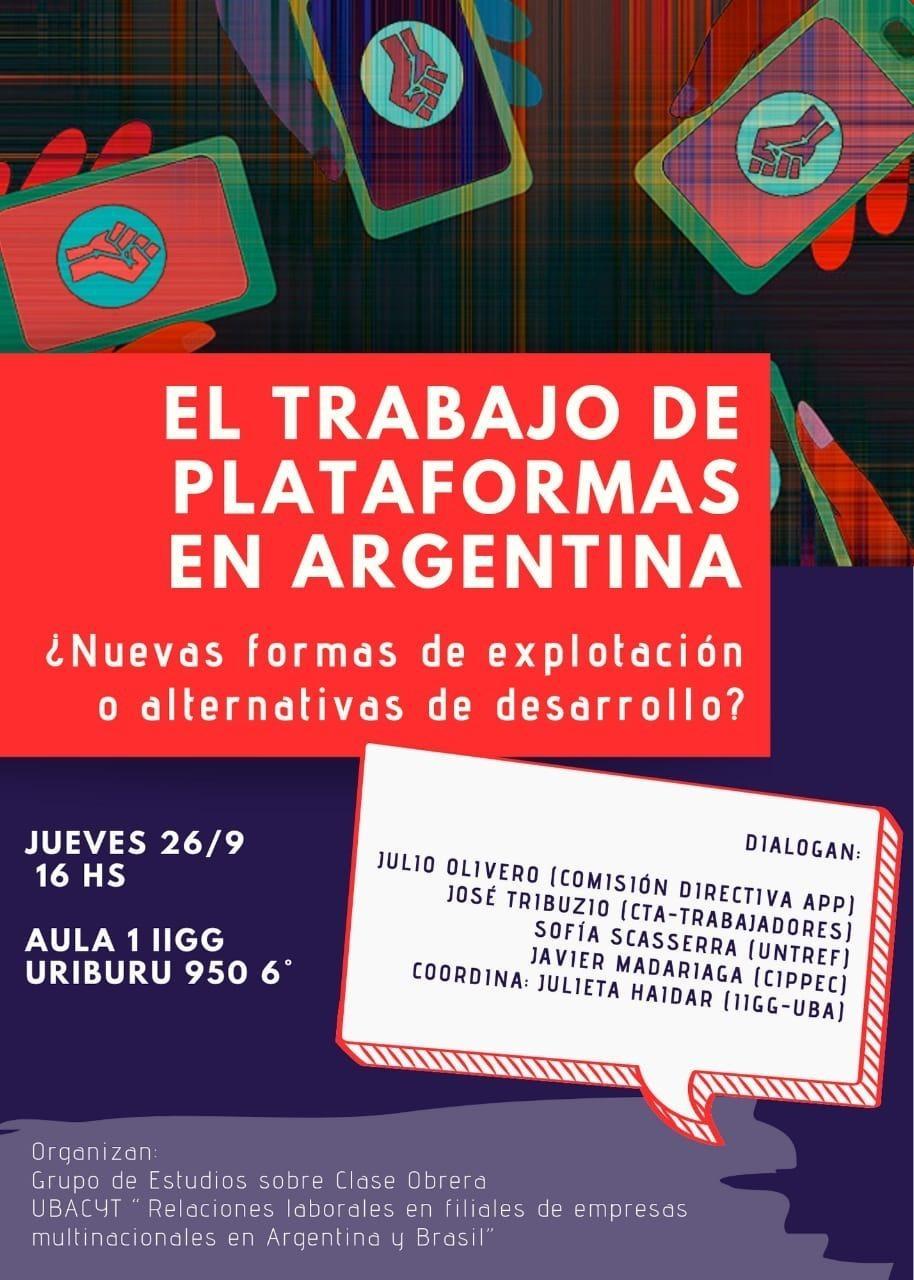 El trabajo de plataformas en argentina