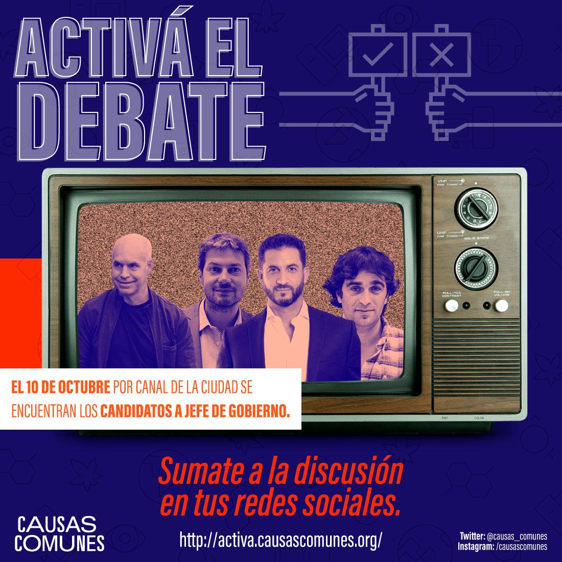 Debate candidatos a Jefe de Gobierno de la Ciudad de Buenos Aires